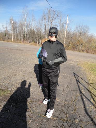 Dressed as Batman