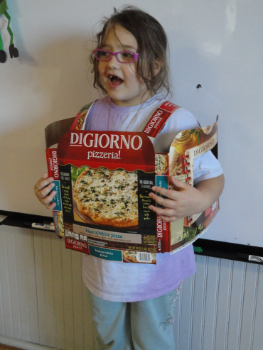 Dressed as a pizza