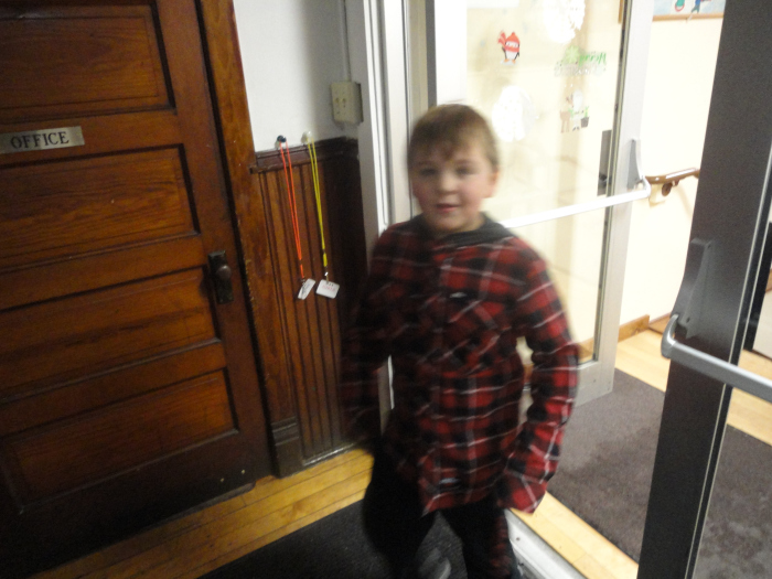 Boy in the entryway
