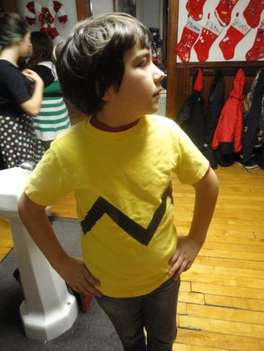 Posing as Charlie Brown