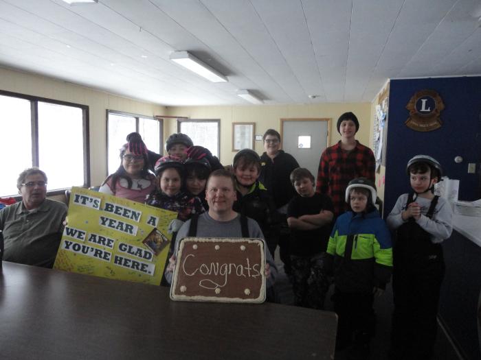 Group congratulatory photo