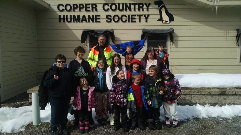 Group photo at the Humane Society